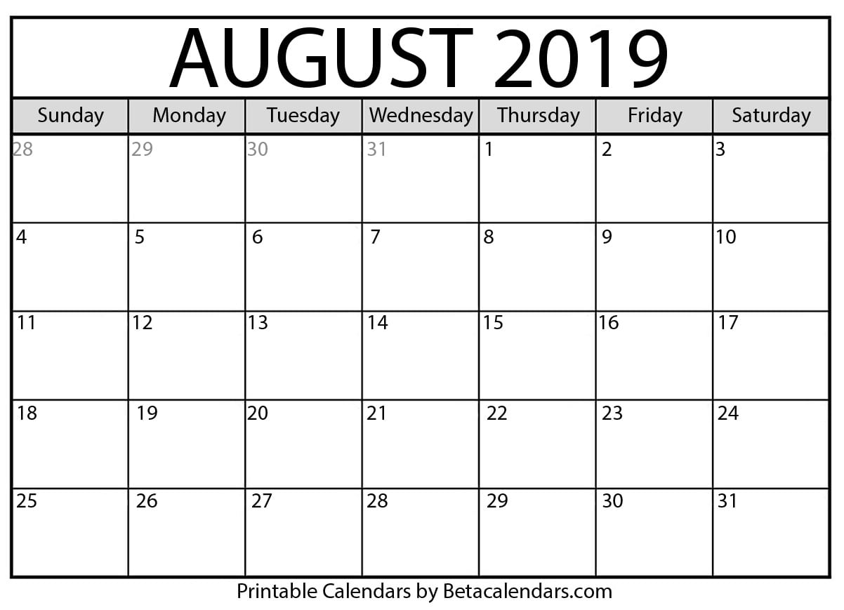Calendar August -December 2019 News – Babcock Community Care Centre